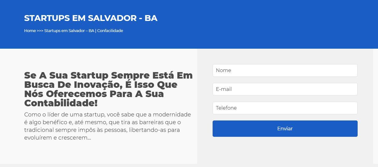 Startup - Contabilidade em Salvador - BA | Confacilidade - Contabilidade para Startups em Salvador BA